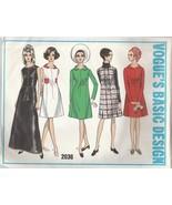 Vintage Sewing Pattern Vogue Basic Design 2036 One Piece Dress or Jumper... - $14.84