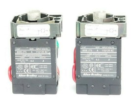 LOT OF 2 ALLEN BRADLEY 800E-2T5 TRANSFORMER MODULES SER. A W/ 800E-2X10 800E2X01