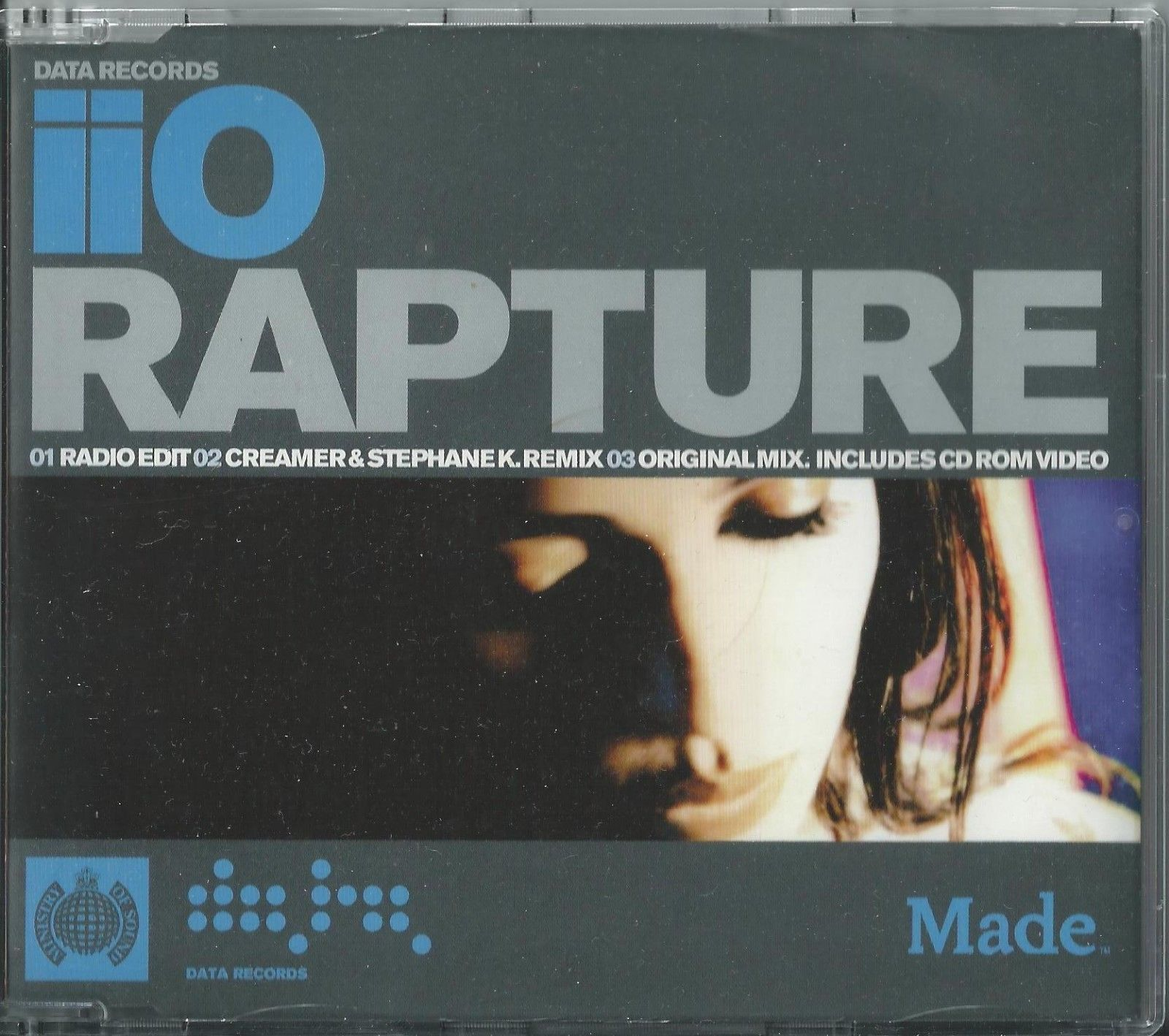 IIO - RAPTURE / (REMIXES) 2001 UK ENHANCED CD SINGLE MARKUS MOSER NADIA ALI