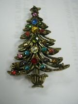 beautiful Christmas tree pin marked Hollycraft - $44.55