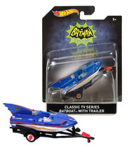 Hot Wheels Classic TV Series Batboat with Trailer 1:50 Scale New in Package - $9.88