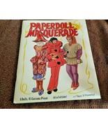 Vintage Paper Doll Masquerade Peggy Jo Rosamond 8 dolls 97 costumes Uncut - $39.19