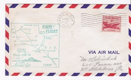 FIRST FLIGHT FARGO, N. DAK. - MINNEAPOLIS, MINN 6/22/1952 AM86 - $1.98