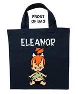 Pebbles Trick or Treat Bag, Personalized Pebbles Halloween Bag, Pebbles ... - $11.99+