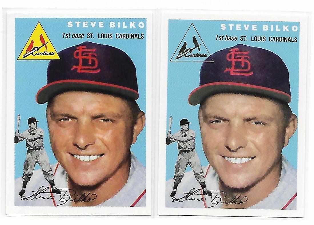 1954 Topps Archives Steve Bilko St. Louis Cardinals #116 Gold & Regular 2Cards