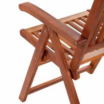 vidaXL 2x Acacia Wood Outdoor Dining Chair Home Kitchen Furniture Seat Dinner image 7