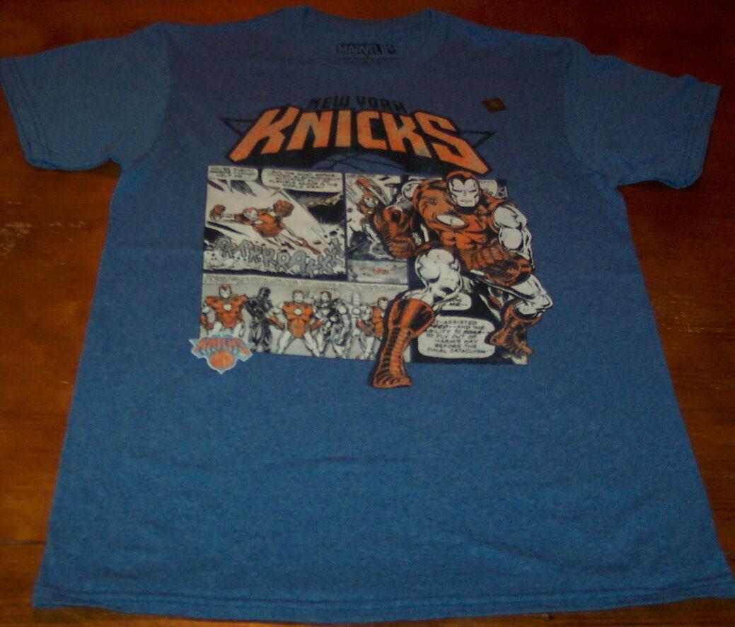 Nba Basketball New York Knicks: NEW YORK KNICKS NBA BASKETBALL IRON MAN MARVEL COMICS T