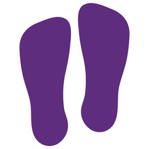 LiteMark Purple Removable Flat-Toe Sockprint Decal Stickers - Pack of 12 - $19.95