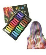 24 Pc Different Color Washable Temporary Hair Chalk Vibrant Multicolored... - £10.40 GBP