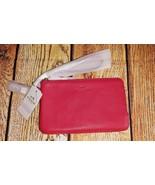 NWT! $95 Coach Double Corner Zip Wristlet Bright Pink Pebble Leather F66505 - $41.70