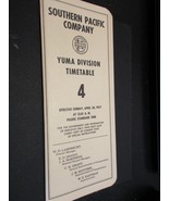 Southern Pacific employee timetable Yuma Division 4  4/28/1957 LN cond... - $18.57