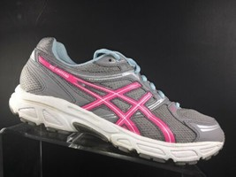 Asics Womens Sneakers Size 10 M Gel Contend Running Shoes Grey Pink (T2N8Q) - $39.58 CAD