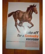 Vintage Kentucky Vacation Tourist Print Magazine Advertisement 1966 - $3.99