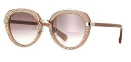Jimmy Choo MORI/S 9FZ Studded Sunglasses Nude Brown Gradient Silver Mirror New - $173.20