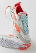 NEW Reebok Classics Shoes Leather Legacy in White Orange Flare Digital G... - $79.19