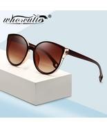 WHO CUTIE 2018 Cat Eye Sunglasses Oversized Women Brand Designer Vintage Sunnies - $20.87 CAD