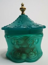 Avon Imperial Garden Emollient Bath PearlsTeal Green Cannister Bottle  - $21.55