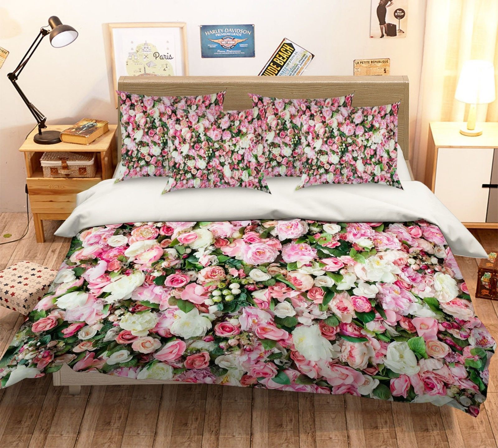 Primary image for 3D Parterre Bloom 276 Bed Pillowcases Quilt Duvet Single Queen King US Summer