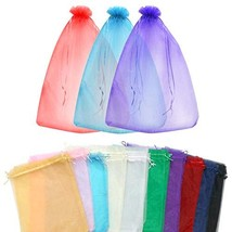 SumDirect 100Pcs12x16 Inches Extra Large Mixed Color Organza Gift Bags w... - $43.26