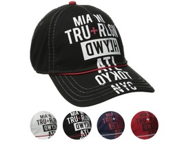 True Religion Men's World Tour Cities Print Baseball Trucker Hat Cap TR1952 image 1