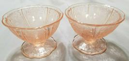 Vtg Jeannette Depression Glass Cherry Blossom Sherbet Bowl - Set of 2, 1... - $20.25