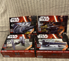 STAR WARS FORCE AWAKENS REVELL SNAP-TITE SPACESHIP X-wing, Tie Fighter, ... - $67.32