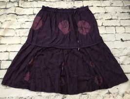 Vini Purple Skirt Sz L Large Hippie Boho Rayon Made In India - $21.78