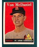 1958 Topps St. Louis Cardinals Baseball Card #65A Von McDaniel RC - $7.87