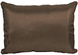 Solid Faux Silk 12x18 Inch Decorative Throw Pillow (Chocolate) - $15.99