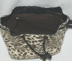 Howards Product Number 68865 Small Bucket Bag Leopard Print Gold Color Accent image 4