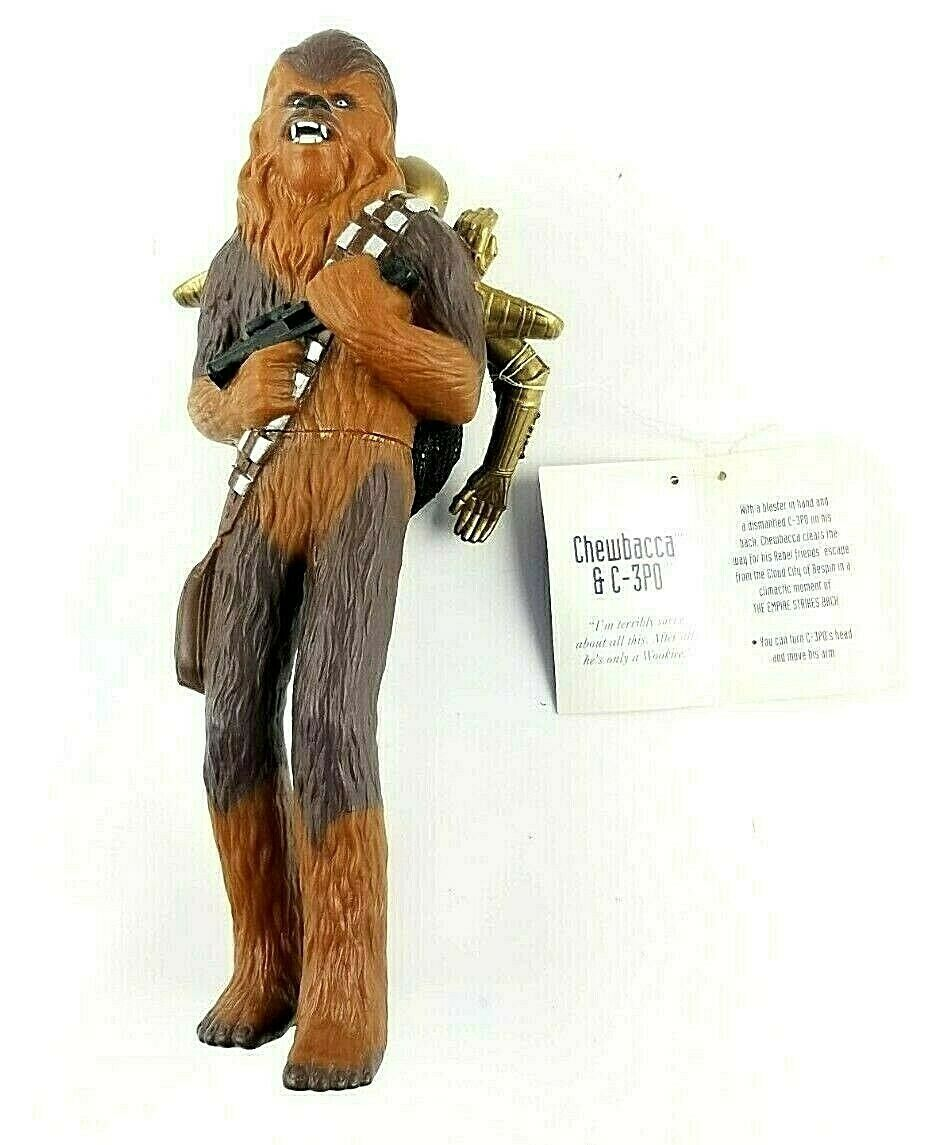 Chewbacca with a Blaster in Hand and C3P0 on His Back Applause STAR WARS Figure - $24.35