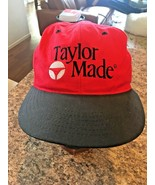 TAYLOR MADE GOLF Baseball Hat Men's Red Fitted Hat - Small/medium - $13.78