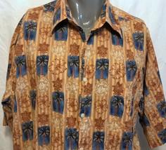 Reyn Spooner Palm Trees Hibiscus Flowers Orange Hawaiian Shirt Sz 2XL Al... - $42.07