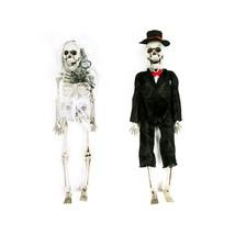 Halloween Skeleton Bride & Groom Wall Or Door Hanging Decorations - $8.77+