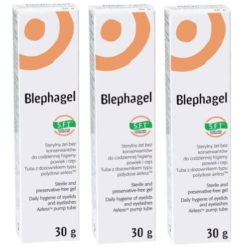 Thea Blephagel Preservative Free Hygiene Eyelids Eyelashes Cleansing Gel 30g x 3
