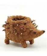 Hedgehog Flower Pot Beige Coco Coir Animal Succulent Plant Holder - $33.24