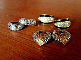 3 Pair Pierced Earrings-Sterling-Enameled-Crystal Set - $9.89