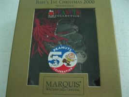 Waterford Crystal Marquis WOODSTOCK Ornament BABY'S 1st CHRISTMAS 2000 peanuts image 3