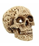 Nemesis Now Celtic Decadence Skull Ivory Scrolled Gothic Figurine Statue... - $31.99
