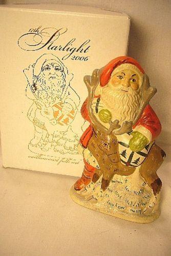 Vaillancourt Folk Art 17th Starlight Santa personally Signed by Judi!
