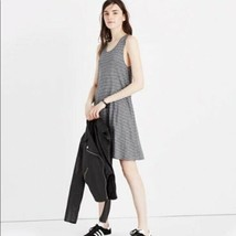 Madewell Highpoint Round Neck Graphic Print Tank Dress Gray Striped Size... - $33.66