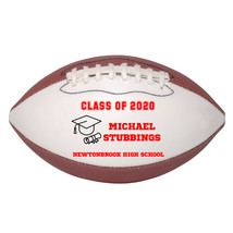 Personalized Custom Class of 2020 Graduation Mini Football Gift Red Text - $34.95