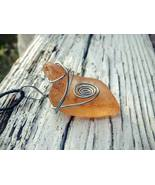 Strange Beholder necklace: Estonian sea glass with silver color wire spiral - $29.00