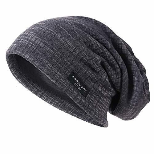 Ruphedy Mens Slouchy Oversized Beanie Skull Cap Summer Thin Knit Hat B301 B18h-G