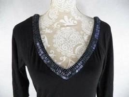 Guess Jeans Women's Small Beaded Tunic Jersey Dress Black - $20.77
