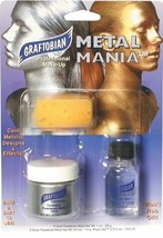 GRAFTOBIAN METAL MANIA FACE BODY PAINTING POWDERED METAL STAGE HALLOWEEN SILVER