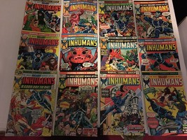 Inhumans #1-12 Marvel Comic Book RUN / SET 1975-77 X-Men Comic Books VF ... - $125.99