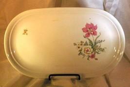 """Kahla Pink, Blue & White Floral Oval Platter 13"""" - $8.31"""