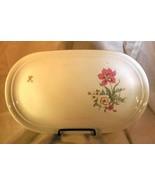"""Kahla Pink, Blue & White Floral Oval Platter 13"""" - $7.55"""