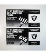 2 Vintage 1987 Los Angeles Raiders Pocket Football Schedules Sponsored b... - $6.99